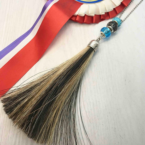 Large Horse Hair Tassel with Beads
