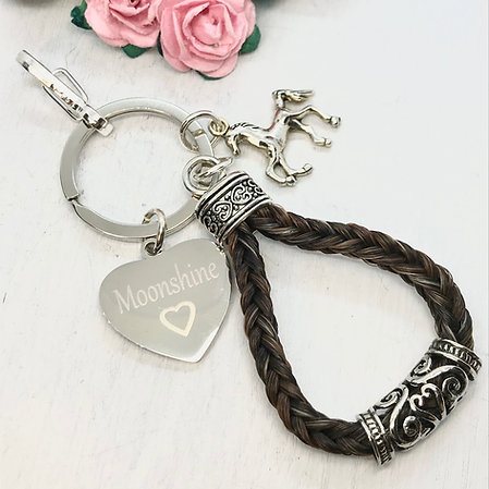 Braided Horse Hair Key-Ring with Cuff