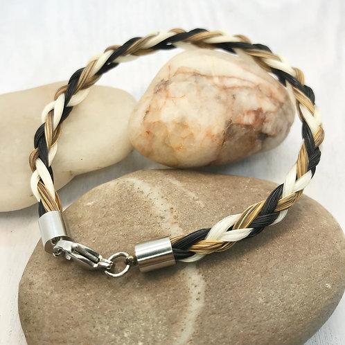 6 Strand Stainless Steel, Horse Hair Bracelet