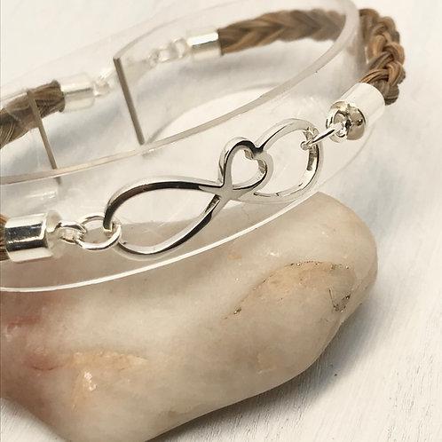 Sterling Silver Infinity & Horse Hair Bracelet