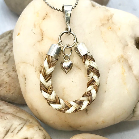 Braided Horse Hair Pendant in Sterling Silver