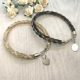 6 strand horse hair bracelet keepsake je