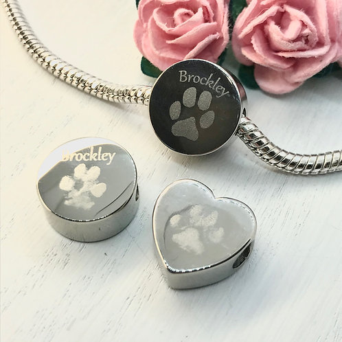 Charm with your Pets Paw or Nose Print