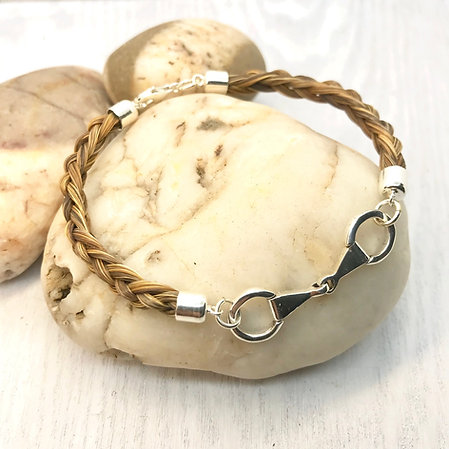 Sterling Silver Eggbutt Snaffle Bracelet