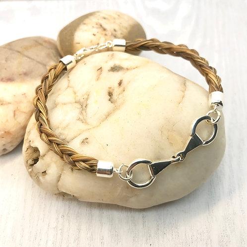 Sterling Silver Eggbutt Snaffle, Horse Hair Bracelet