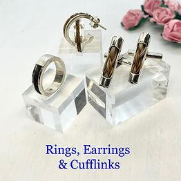 rings cufflinks earrings