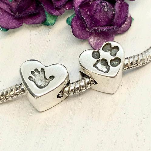 Sterling Silver Hand - Paw - Hoof Print Charm
