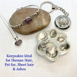 keepsake jewellery human hair put fur do
