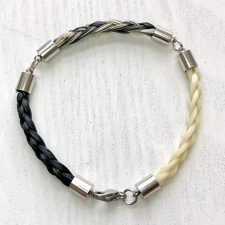 3 Section Bracelet with Sterling Silver or Stainless Steel Fittings