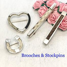 stockpin brooch horse hair memorial keep