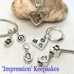 metalclay keepsake jewellery  hand paw print impress hoof  (23).jpg