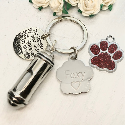 Vial, Urn Key-ring for Hair, Fur or Ashes