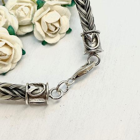 Hoof Print Design Endcap Bracelet