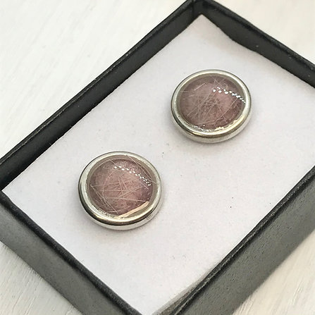 Sterling Silver Button Earring