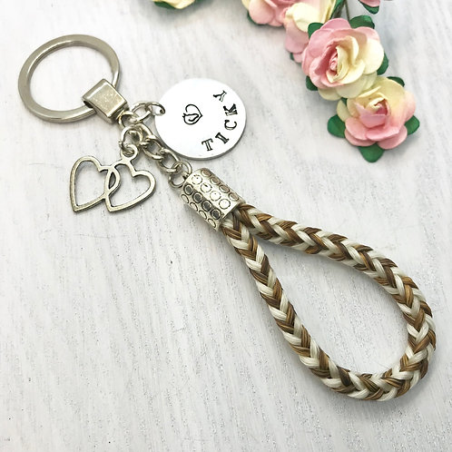Braided Plain Horse Hair Key-ring