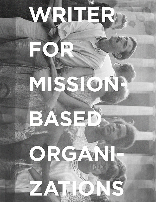 Writer for mission-based organizationsps