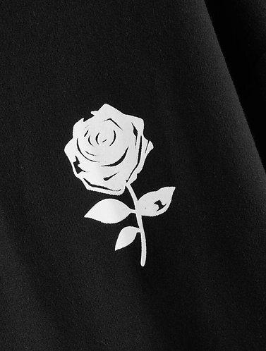 Drop Shoulder Drawstring Hoodie - Harlie Rose Logo