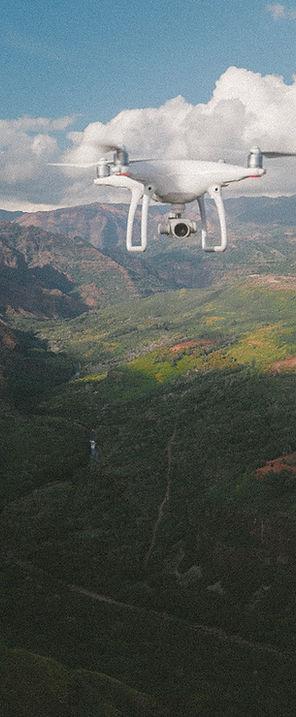 Fliegen eines Drone