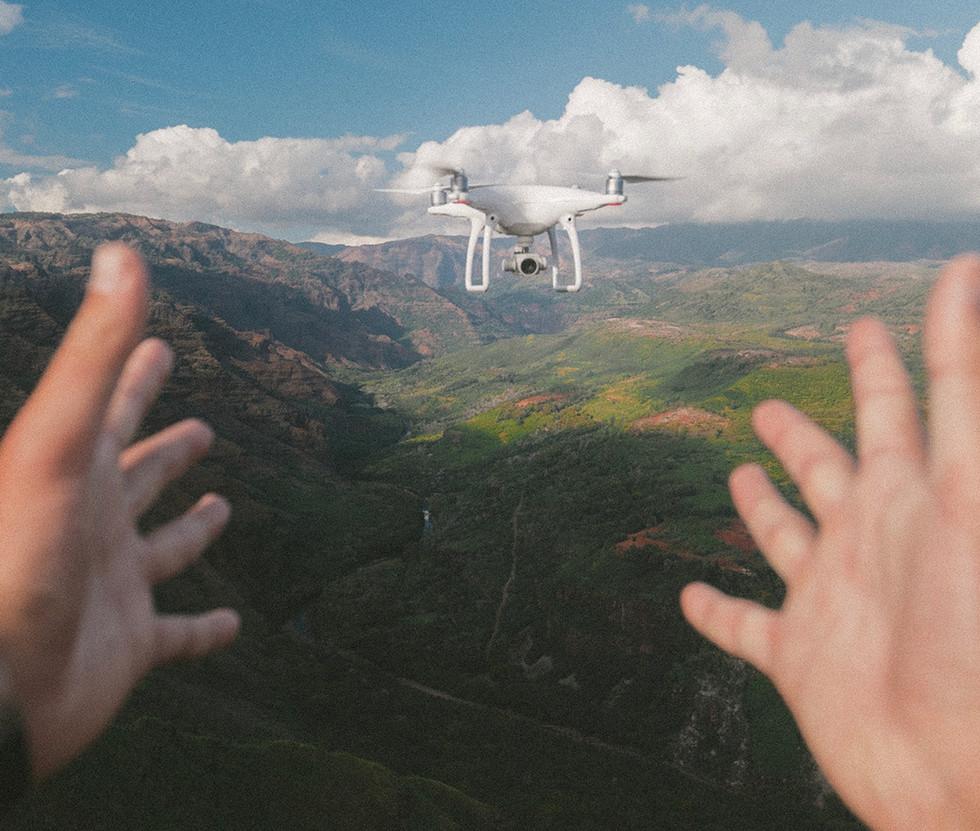 Fliegen einer Drohne