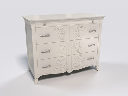 3D Rendering for the chest of drawers (manufacturer: Keoma Dania)