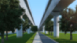 3D architectural rendering for the elevated railway in Melbourne