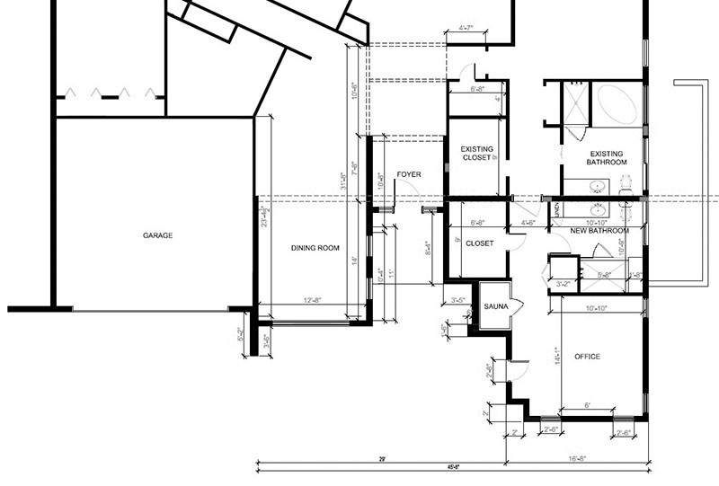 2D Architectural floor plan for the house in Florida