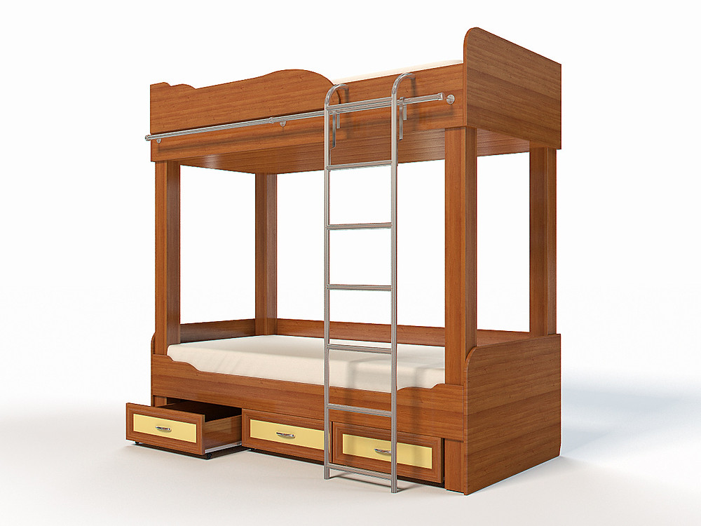 3D Rendering of the child bed