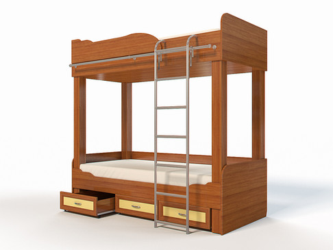 3D Furniture Rendering for the children's bed