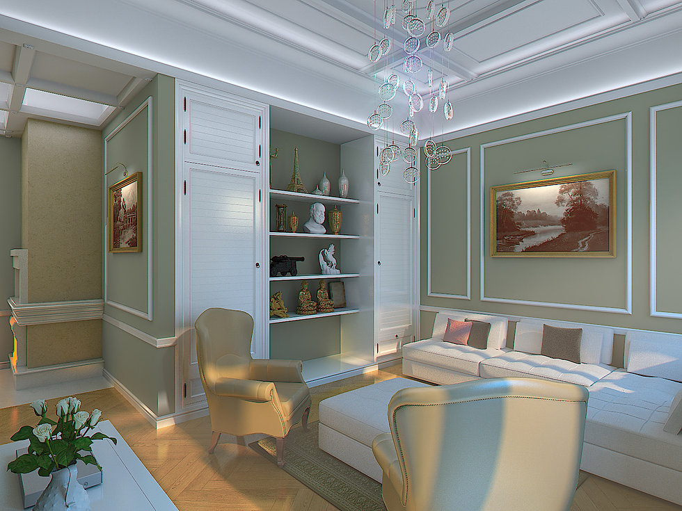 3D Renderings for the living room in Batumi view no 2