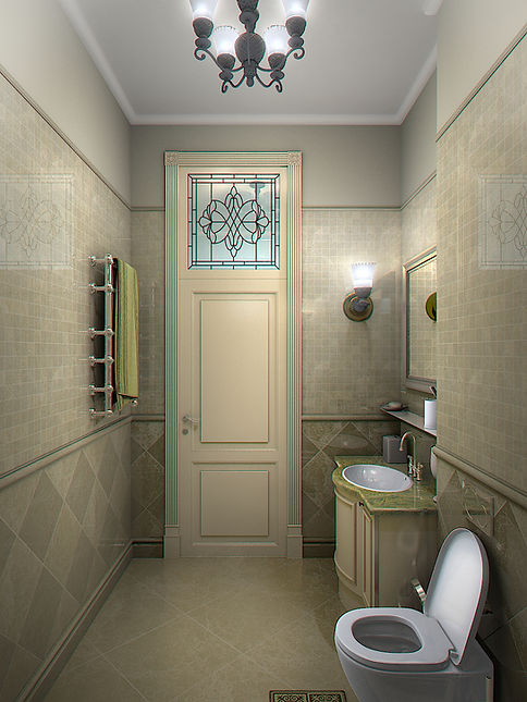 3D Rendering for the bathroom in Batumi view no 2