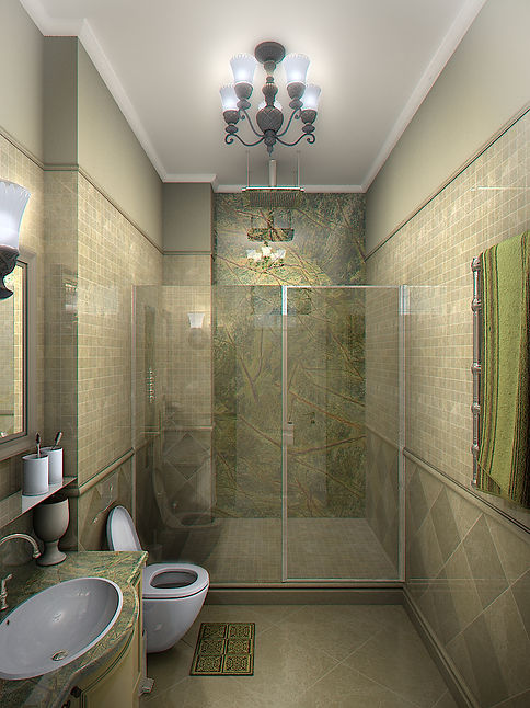 3D Rendering for the bathroom in Batumi view no 1