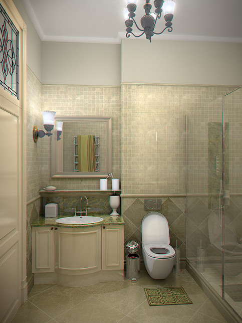 3D Rendering for the bathroom in Batumi view no 3