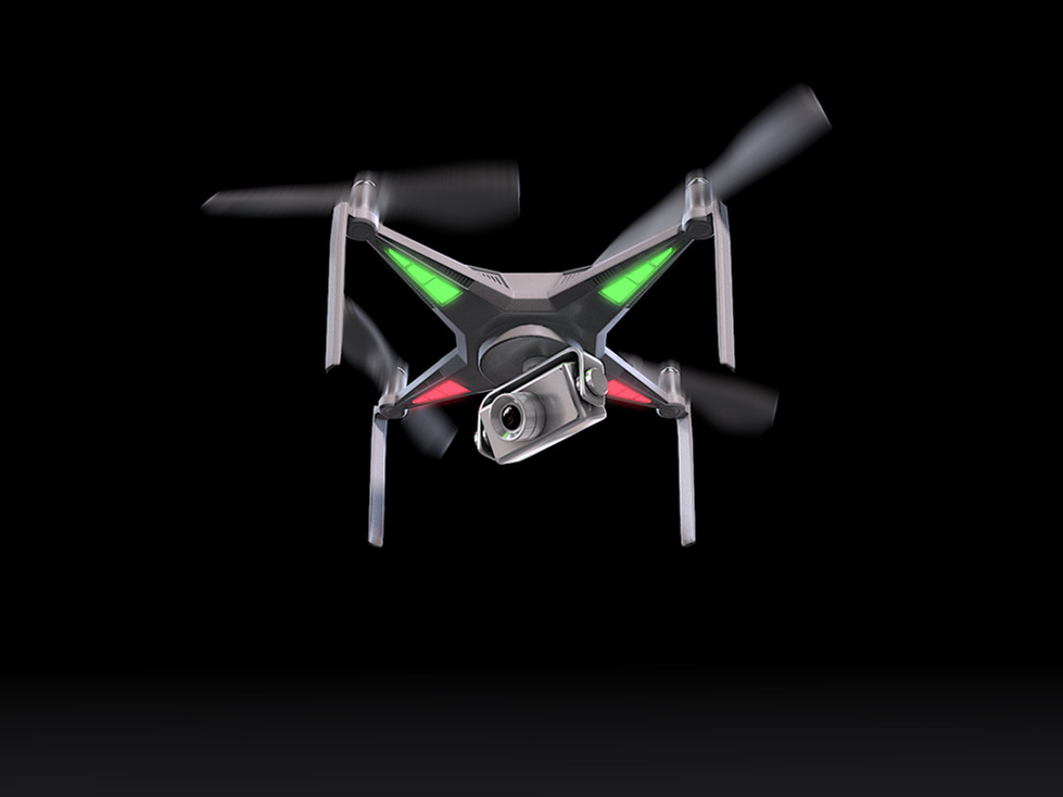 3D Rendering for the UAV drone took off