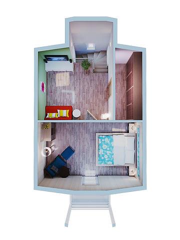 3D floor plan sample