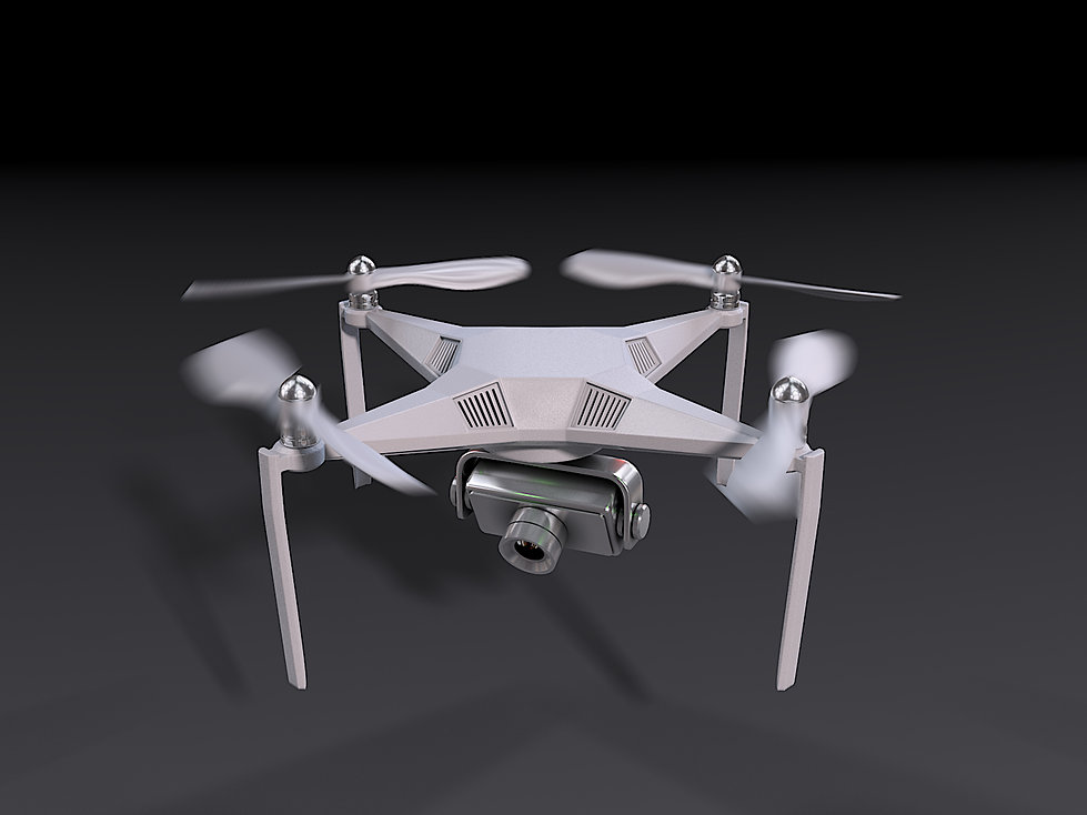 3D Rendering for the UAV drone taking off