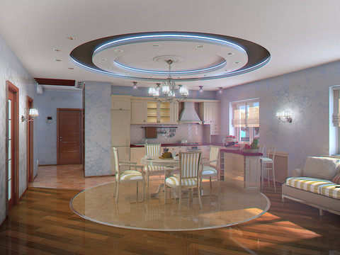 V-Ray interior 3D Rendering