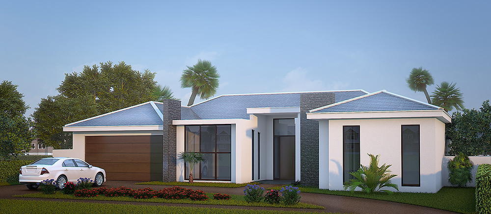 3D Architectural rendering for the house in Florida
