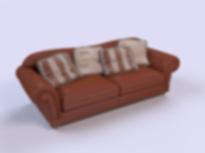 3D Furniture Rendering for the sofa