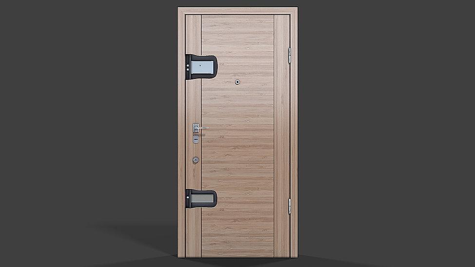 3d product rendering of the door with cu