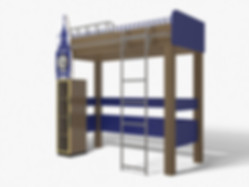 3D Rendering for the children's bed