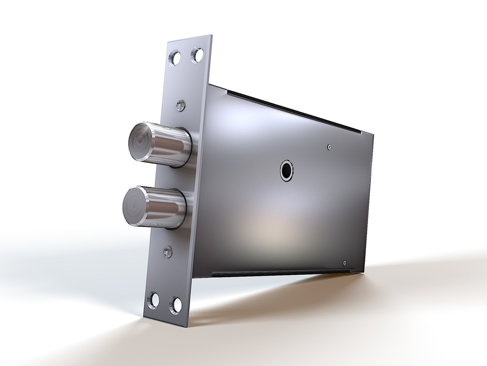 3D Product Rendering of the electromechanical lock