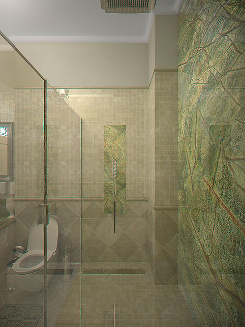 3D Rendering for the bathroom in Batumi view no 4