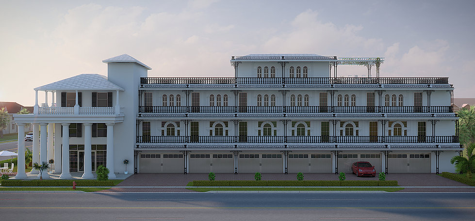 3d architectural rendering of the hotel in Florida