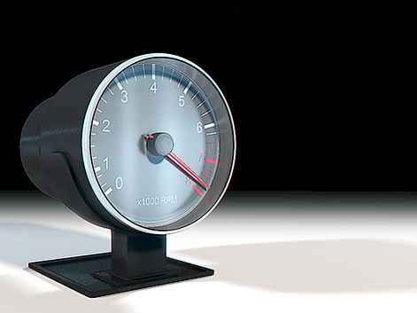 Preview of the 3D Product Rendering for the tachometer (RPM meter)