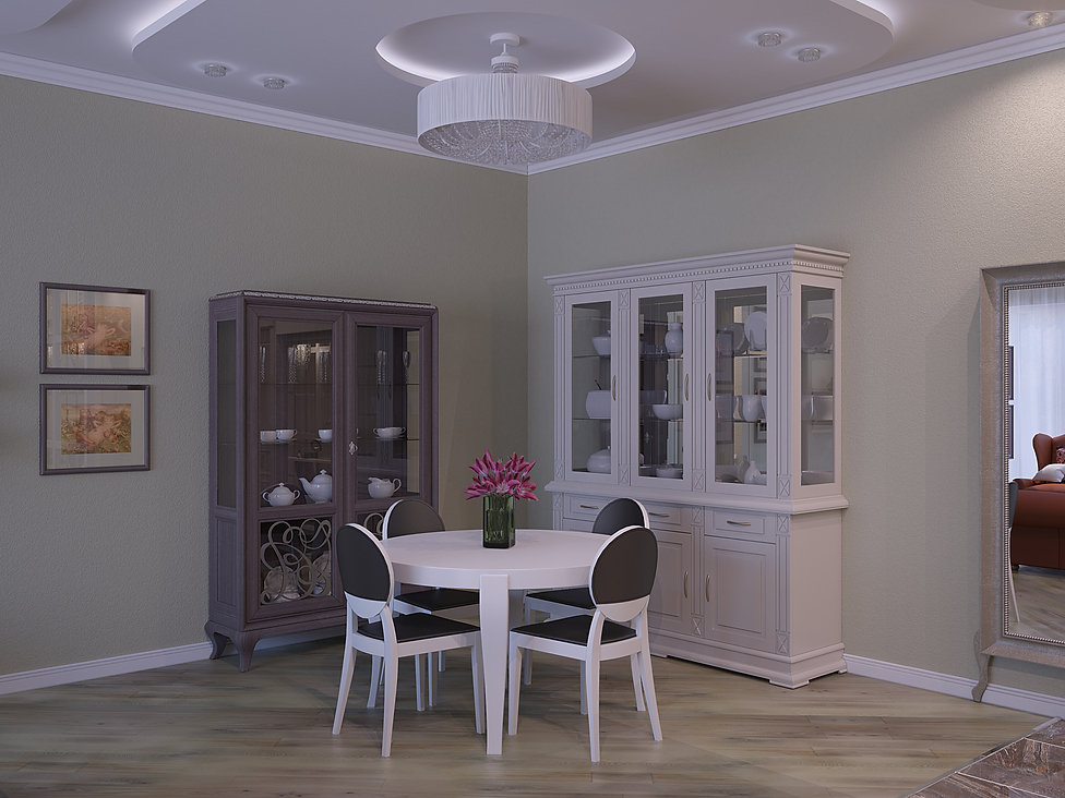 3D Renderings for theliving room view n
