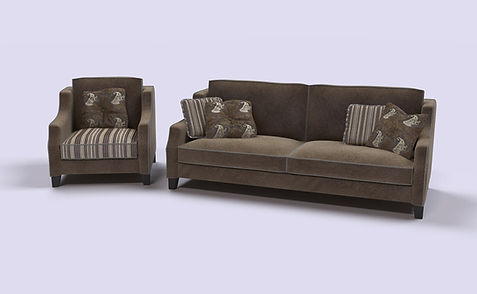 3D Rendering for the armchair and sofa