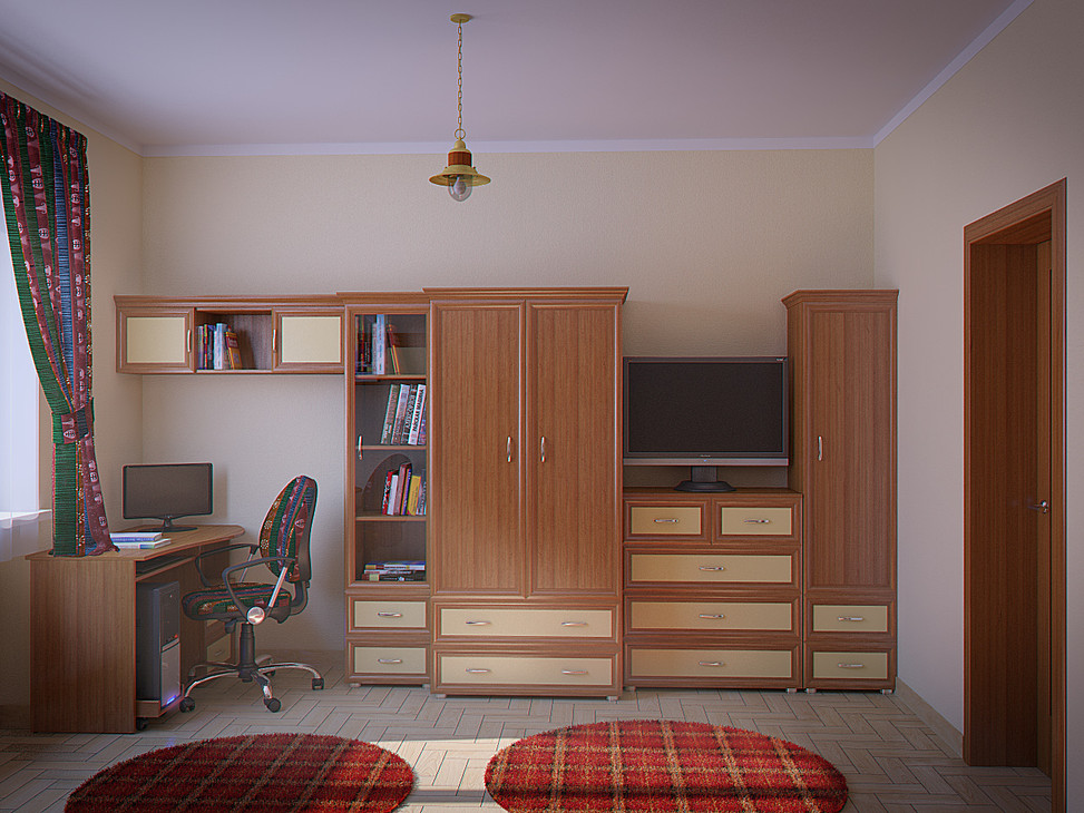 3d rendering for the children room view no 2