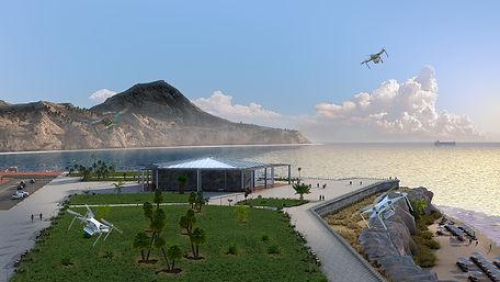Public Aquarium 3D Render