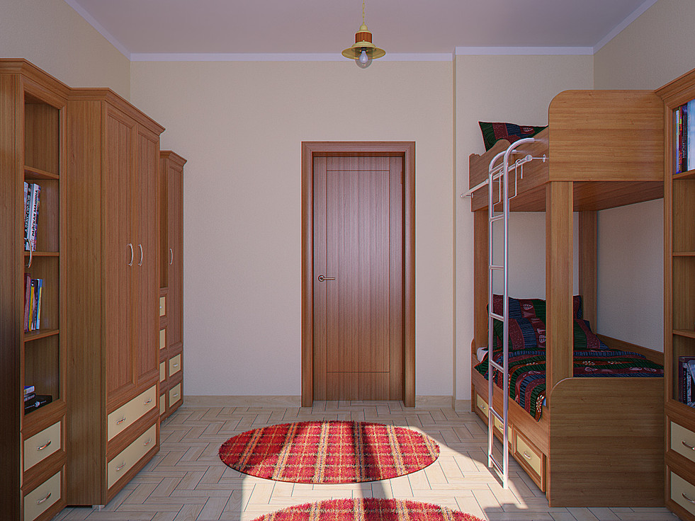 3d rendering for the children room view no 4