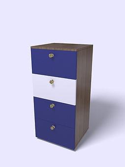 3D Rendering for the children's room chest of drawers